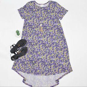 LuLaRoe Women's Carly Hi-Low Short Sleeves Dress